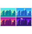 pixel art cityscape town street 8 bit city vector image