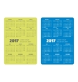 Pocket calendar 2017 vector image