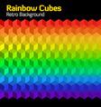 rainbow cubes vector image vector image