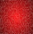 Red screen binary code screen vector image vector image