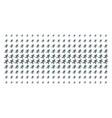 running gentleman shape halftone grid vector image