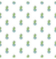 saguaro cactus pattern seamless vector image vector image