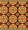 seamless hand drawn mandala patternvintage vector image