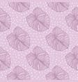 seamless monstera leaves outline pattern
