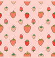 seamless pattern with strawberry background vector image