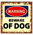 set dog on guard vector image vector image