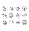 set healthcare icons such as mint bag medical vector image vector image