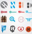 Set of alphabet symbols of letter H