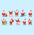 set santa clauses christmas funny happy vector image vector image