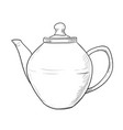 sketch of teapot vector image vector image