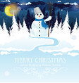 snowman with a broom vector image vector image