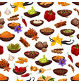 spice food ingredient seamless pattern background vector image vector image