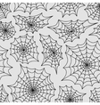 Spiders web seamless background pattern vector image vector image