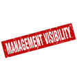 square grunge red management visibility stamp vector image vector image