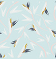 strelitzia tropical print seamless pattern vector image