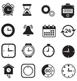 timer watch and Clock icons vector image