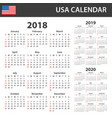 usa calendar for 2018 2019 and 2020 scheduler vector image