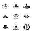 waste logo set simple style vector image