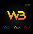 wb abstract logo symbol icon vector image