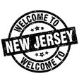 welcome to new jersey black stamp vector image vector image