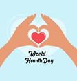 world hearth day design vector image