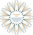 sun floral round textual frame vector image