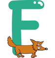 F for fox vector image