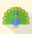 Flat Design Peacock Icon vector image