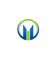 M letter business finance logo vector image