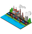3d design for power station by the road vector image