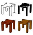 3d simple wooden table black symbol