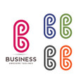 abstract letter b logo vector image vector image