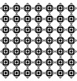 abstract square black dots pattern image vector image