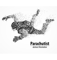 abstraction parachutist fly vector image vector image