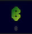 b letter origami logo gradient monogram ribbon vector image vector image