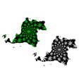 banten subdivisions indonesia provinces of vector image vector image