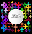bright abstract background with flowers and a vector image