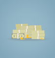 Cash pile vector image