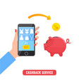 cashback service concept vector image vector image