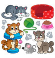 cat theme collection 1 vector image vector image
