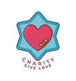 charity give love concept care and support icon vector image vector image