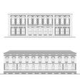City street facades set vector image