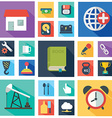 collection colorful flat business and finance vector image vector image
