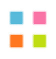collection of colorful stitched square shape vector image vector image