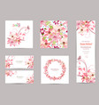 collection of greeting cards with blossom lilies vector image vector image