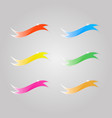 colored shiny flags on a gray background vector image vector image