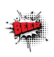 Comic text beer sound effects pop art vector image