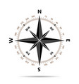 compass icon in flat design vector image
