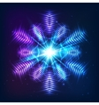 Cosmic shining abstract snowflake vector image vector image