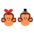 couple monkeys vector image